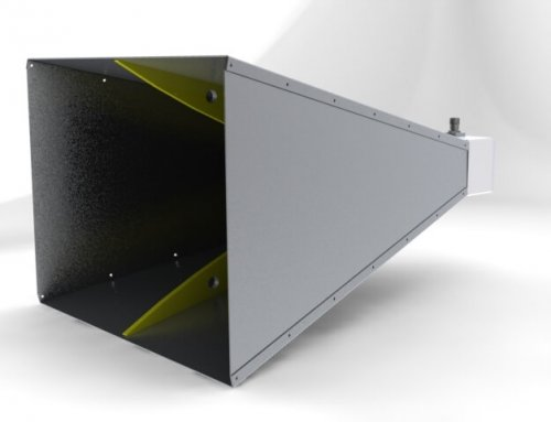 500MHz to 8GHz Double Ridged Broadband Waveguide Horn Antenna